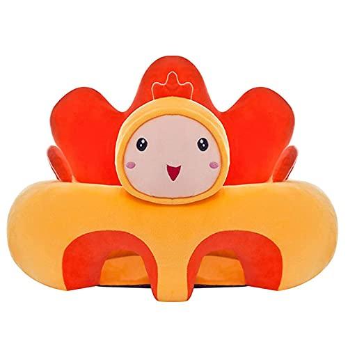 AMZYY Baby Soft Sofa, Sedile per Mobili per Bambini, Sedia per Divano di Sostegno per Bambini, Divano per Neonati a Forma di Animale Accogliente e Sicuro per Neonati da 3 a 16 Mesi,Chickens
