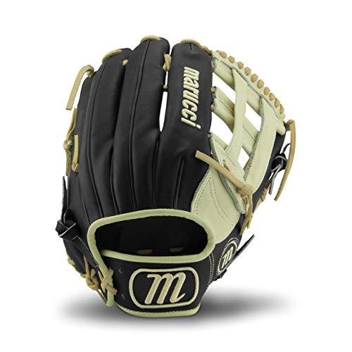 Marucci MFGFS1275H-BK/CM-LH Founders' Series Baseball Fielding Gloves, Camel/Black, 12.75'