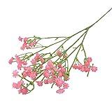 Flores Artificiales 3 Piezas plástico DIY Floral Ramos arreglo para la decoración del hogar de la Boda 3-Bunches Pink