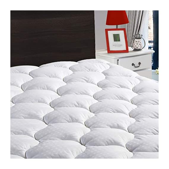 LEISURE-TOWN-Overfilled-Fitted-Mattress-Pad-Cover8-21-Inch-Deep-Pocket-Cooling-Mattress-Topper-Snow-Down-Alternative-Fill