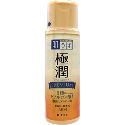 Rohto New Hadalabo Gokujun Premium Hyaluronic Lotion 170ml (Green Tea Set)