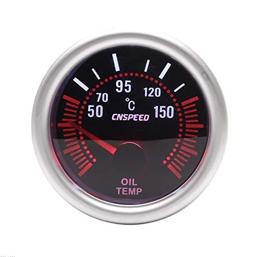 Dhmm123 Digital 12 V 2 \'\'52mm Auto Öltemperaturanzeige 50-150c Universal Rauch Objektiv Mit Öltemperatursensor Auto Manometer Spezifisch