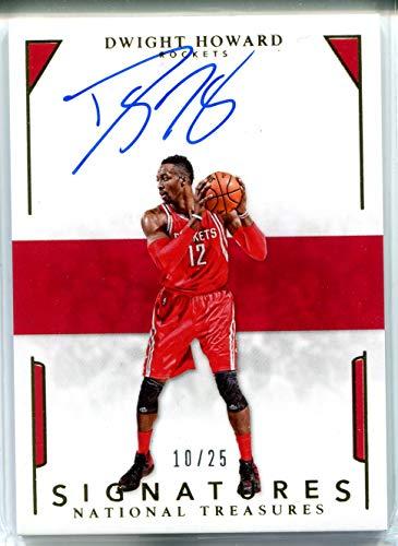 Dwight Howard Auto 2015-16 National Treasures Panini Basketball Signatures Gold Trading Card #S-DHD Houston Rockets #10/25