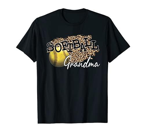 Softball Grandma Leopard - Softball Grandma T-Shirt