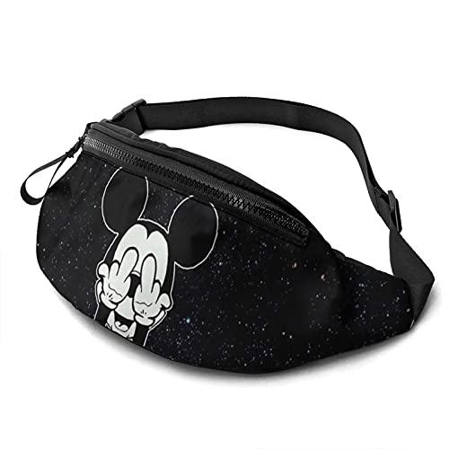 Mickey Minnie Mouse de dibujos animados casual cintura bolsa moda hombres mujeres niños adolescentes bolsa al aire libre entrenamiento viajes casual correr senderismo ciclismo