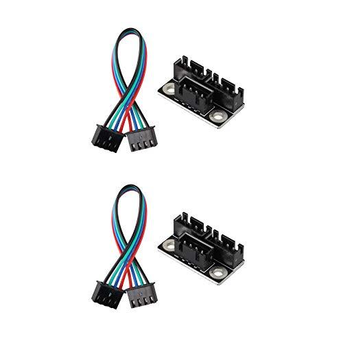 Jopto 3D Drucker Teile und Zubehör für 3D-Drucker Schrittmotor, Parallelmodul, mit W Kabel, 2 Stück