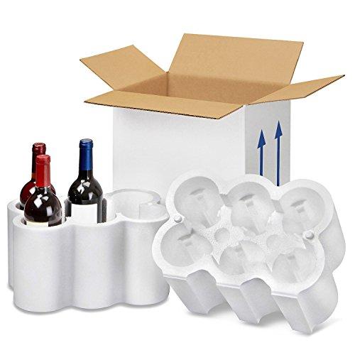 Botellero  caja para seis botellas