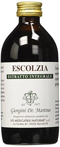 Dr. Giorgini Integratore Alimentare, Escolzia Estratto Integrale Liquido Analcoolico - 200 ml