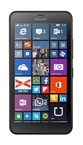 Microsoft Lumia 640 XL Smartphone, 8 GB, Nero [Italia]