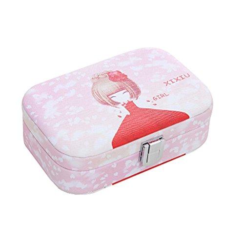 Design élégant Cosmetic Container Boîte de rangement cosmétique avec Flower Girl