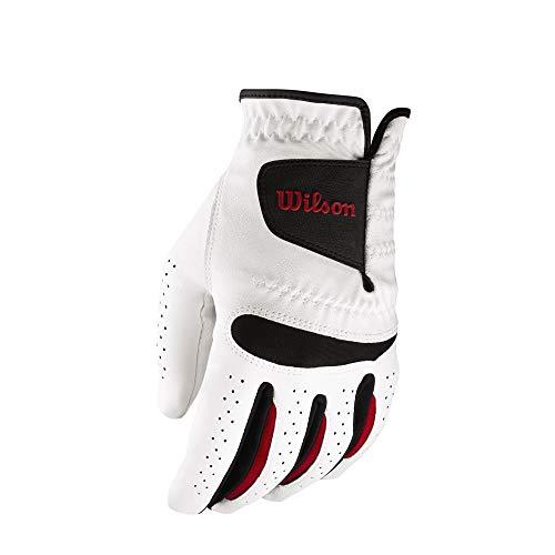 Wilson Herren Golfhandschuh, Größe S, Rechts, MRH, Weiß, Feel Plus, WGJA00065S