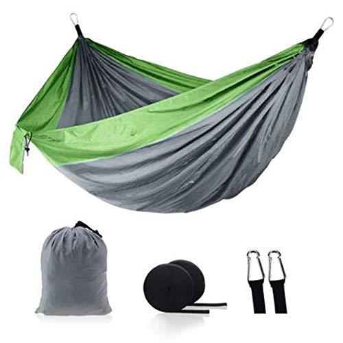Hamaca para Acampar Al Aire Libre Portátil Paracaídas Hamaca Camping Supervivencia Jardín Ocio Viajes Doble Persona 27