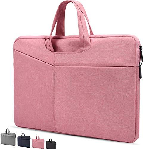 12.3-13.3 Inch Laptop Sleeve Case for MacBook Air/MacBook Pro,Acer 13.3 Chromebook,Dell Inspiron 13.3',Lenovo Yoga 720/730 13.3',LG Gram 13.3,HP Spectre x360 13.3,Dell Acer Lenovo ASUS Laptop Bag,Pink