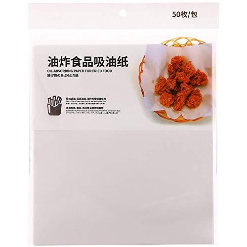 Amiispe Papel extintor para alimentos hornear asar barbacoas cocinas papel absorbente de aceite papel para pasteles embalaje antiadherente de aceite de cocina Gadgets