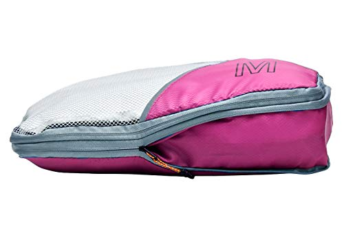 Packing Cubes de Compresión, Organizadores de Equipaje, 3 Set Organizador para Maletas, Bolsas para Ropa Zapato Sucia de Viaje, Accesorios para Viajes de Riemot Rosa