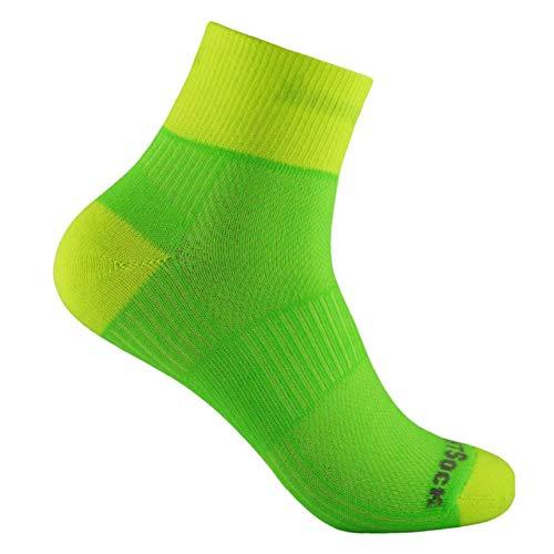 Wrightsock Coolmesh II Quarter Socken Lemon-Lime Schuhgröße M | EU 37,5-41 2019