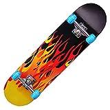 ZBYL Skateboard Monopatín Completo 31 Pulgadas Double Kick Longboard, 7 Capas...