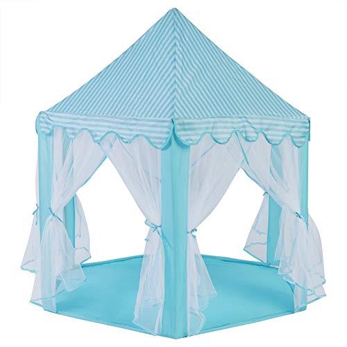 LZKW Carpa de Juguete para niños, Duradera y fácil de Limpiar Carpa de Juego para el Castillo, Material de Tela de Calidad Que promueve el Desarrollo del Cerebro para niñas, niños, hogar(Blue)