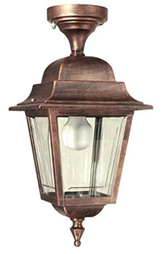 F309 – bonitaIluminación para lámpara de pared exterior, lámpara de jardín,–para techo,– colgante, – farol – Valastro Iluminación., aluminio, blanco, E27 100.00 W 230.00 voltsV
