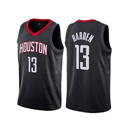 HANJIAJKL Basket Jersey,Maglia Swingman Ricamata,Stile di Abbigliamento Sportivo,James Harden, Houston Rockets #13,Black a,M