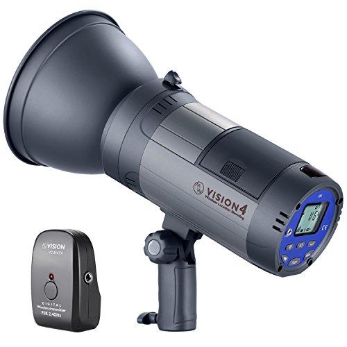Neewer Vision 4 300W GN60 Strobo Flash da Studio per Esterno Monoluce Alimentata da Batteria Li-ion Cordless con 2.4G Wireless Trigger, 700 Flash a Piena Potenza, Riciclo 0,4-2,5s, Bowens Mount