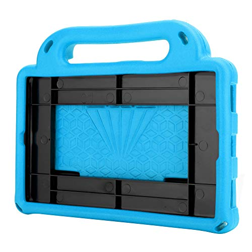 EVA Tablet Protective Case, with Belt at The Back, Prevent The Tablet from Accidentally Falling, Perfect for Babies, Toddlers, Boys and Girls(Blue)