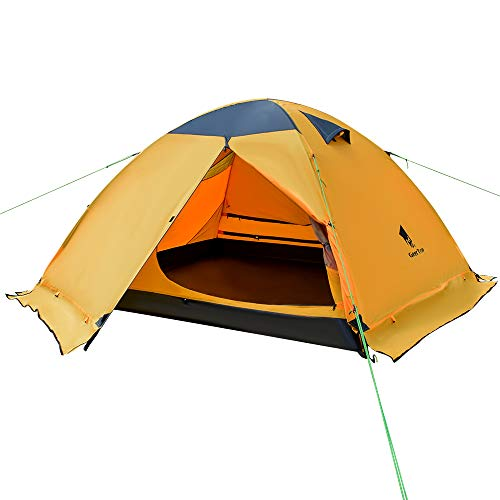 GEERTOP - Tienda de campaña para 3 personas y 4 estaciones, doble capa impermeable para caza, senderismo, escalada, viajes, fácil de instalar