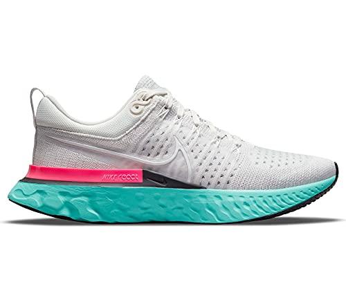 Nike React Infinity Run FK 2, Zapatillas Hombre, Platinum Tint/White-Grey Fog, 41 EU