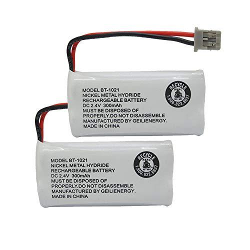 GEILIENERGY 2.4V 300mAh BT-1021 BBTG0798001 Cordles Phone Battery Compatible with Uniden BT1021 BT-1025 BT-1008 BT-1016 Empire CPH-515B Cordless Phone (2-Pack)