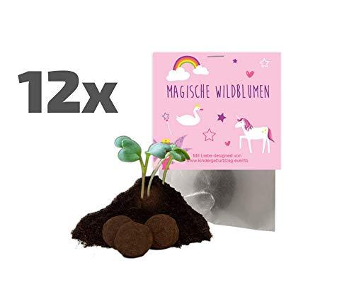 Ideenverlag 12x Märchen / Einhorn / Feen Samenbomben als Mitgebsel zum Kindergeburtstag / Seedbombs...