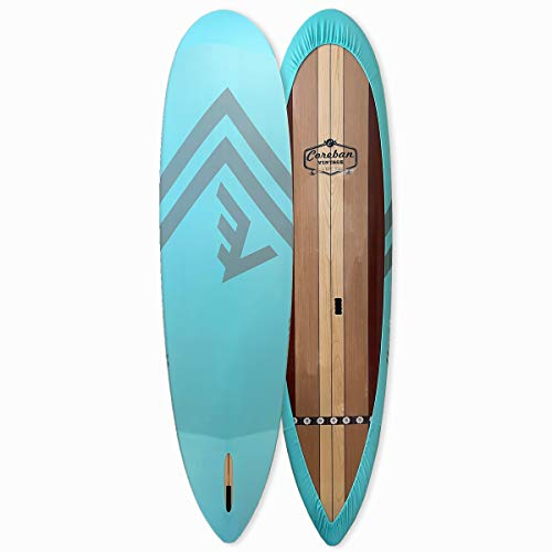 VAMO Stand Up Paddleboard 4-Way Stretch, UV Board Cover for Paddleboards, Kayaks and Surf Boards (Paddleboard not Included) (Caribbean, 10'6-12')