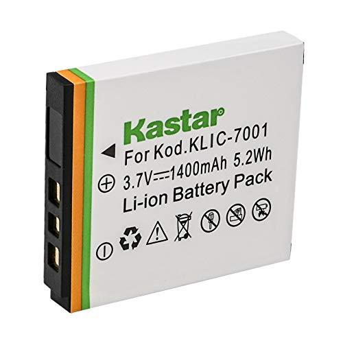 Kastar KLIC-7001 Lithium-Ion Battery Replacement for Kodak EasyShare M1073 is, M1063, M893 is, M863, M763, M853, M753, V705, V610, V570, V550 Digital Camera