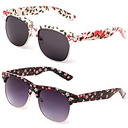 2 pairs of floral sunglasses for moms