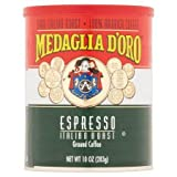 Medaglia D Oro, Caffe Espresso Can Ground, 10-Ounce (6 Pack)