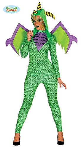 Sexy Drachen Kostüm mit Flügeln für Damen Drachenkostüm Ganzkörper Anzug Gr. M/L, Größe:L