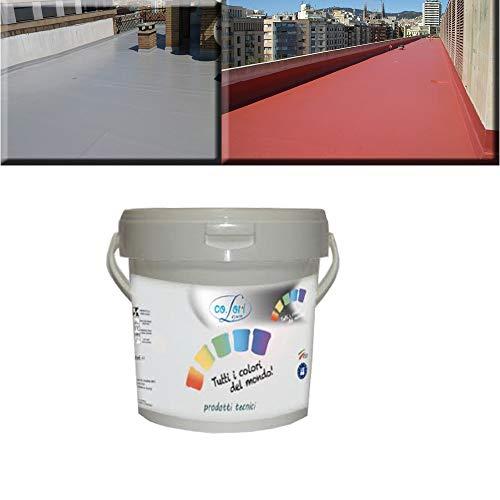 GUAINA Liquida Impermeabilizzante *GUAINA* Grigia/Bianca/Rossa da 5-20 Kg (5 Kg, Grigio)