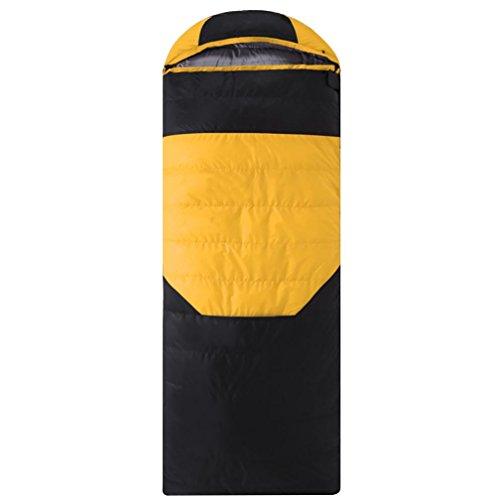 Sac de couchage Duck Down sac de couchage ultra-léger pour adultes 600g-2500g , yellow , 1000g