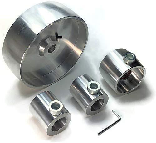 Belt Grinder 2'x72' Wheel Set For Knife Grinder 6.2' Drive 5/8' Bore 3' Track 2' Idler (6' 5/8-3' - 2')