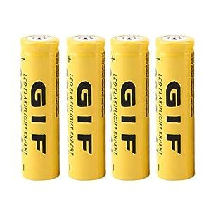 ANR 4PCS Ecológico 3.7V 18650 5800mAh Capacidad Batería Recargable de Iones de Litio para Linterna Antorcha LED Linterna Experto (Amarillo)