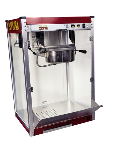 Paragon Theater Pop 12 Ounce Popcorn Machine for Professional Concessionaires Requiring Commercial Quality High Output Popcorn Equipment, Red