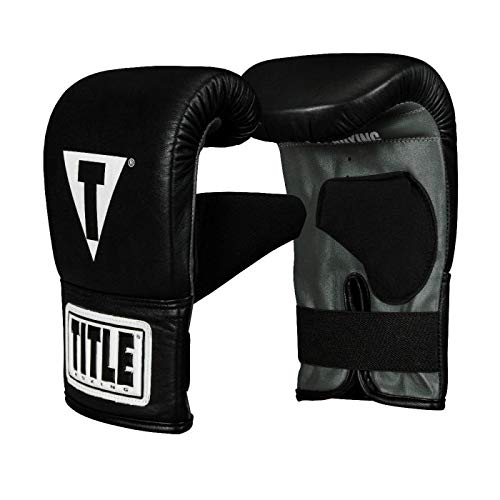 Title Boxing Pro Leather Bag Mitts 3.0, Black, Large