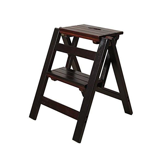 YuanYu Escalera de Taburete de 2 Pasos para Adultos y niños Taburetes de Madera para pies pequeños Mesa de plegamiento Simple Banco de Zapatos portátil de Interior/Rack de Flores Escalera Plegable