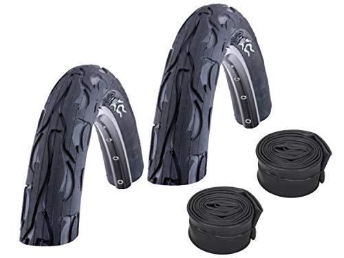 Set: 2x Kenda Flame k1008Vélo VTT pneu 26x 2.125/57–559+ Conti tuyaux Course Soupape