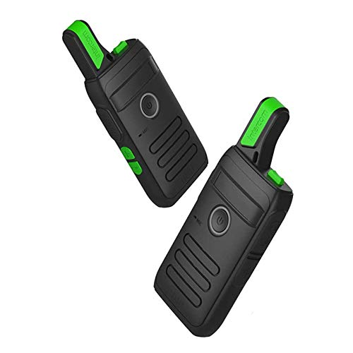 QCHEA Walkie Talkie Ultra Delgada: con Auriculares y luz LED, Recargable USB, enojamiento Extra Largo, para la Supervivencia de Campo en Bicicleta el Comando de construcción de excursiones