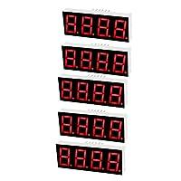 uxcell LEDデジタル表示管 12ピン 4ビット 7セグメント 50.3 x 19 x 8mm 5個入り