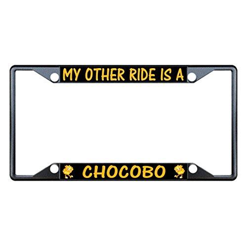 My Other Ride is A Chocobo Metall-Kennzeichenrahmen Halterung mit vier Löchern für Herren, Damen, Auto-Garadge