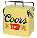 Koolatron CBVIC-13 Coors Light Banquet Ice Chest 13 Liter Retro Vintage, Yellow, 14 Quarts (CBVIC-13)
