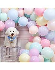 PartyWoo Pastellballonger, 100 st 10 i pastellfärgade ballonger i 8 färger, pastellfärgade ballonger för påskdekorationer, påskdekor, regnbåge födelsedag