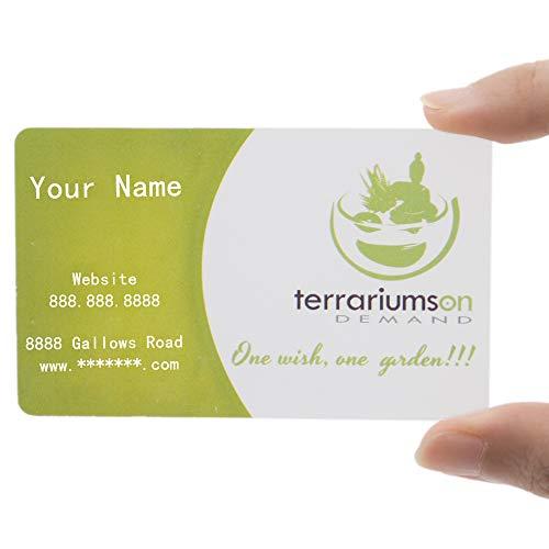 200 tarjetas personalizables de plástico esmerilado para negocios, impresas a todo color, 0,38 mm de grosor, color Frosted/ 0.38mm 200 PCS