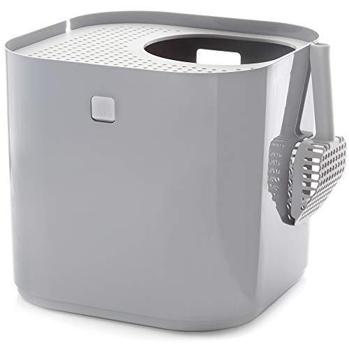 Modkat Katzentoilette, Dacheinstieg, Sieht Klasse Aus, Verringert Zerstreuung der Katzenstreu - Grau